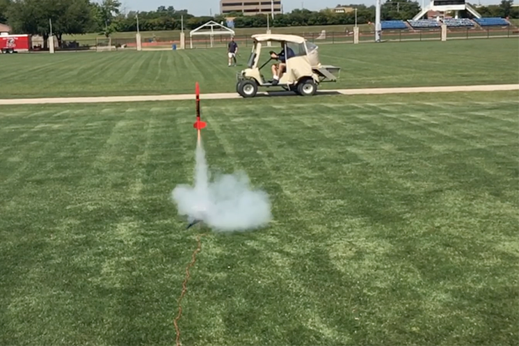 Students+in+Stephen+Dickey%27s+engineering+class+launched+rockets+last+week+as+their+final+project.