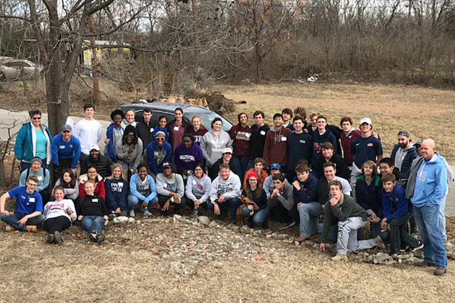 Students from FWCD and TVS came together at the Como Community Garden on MLK day.
