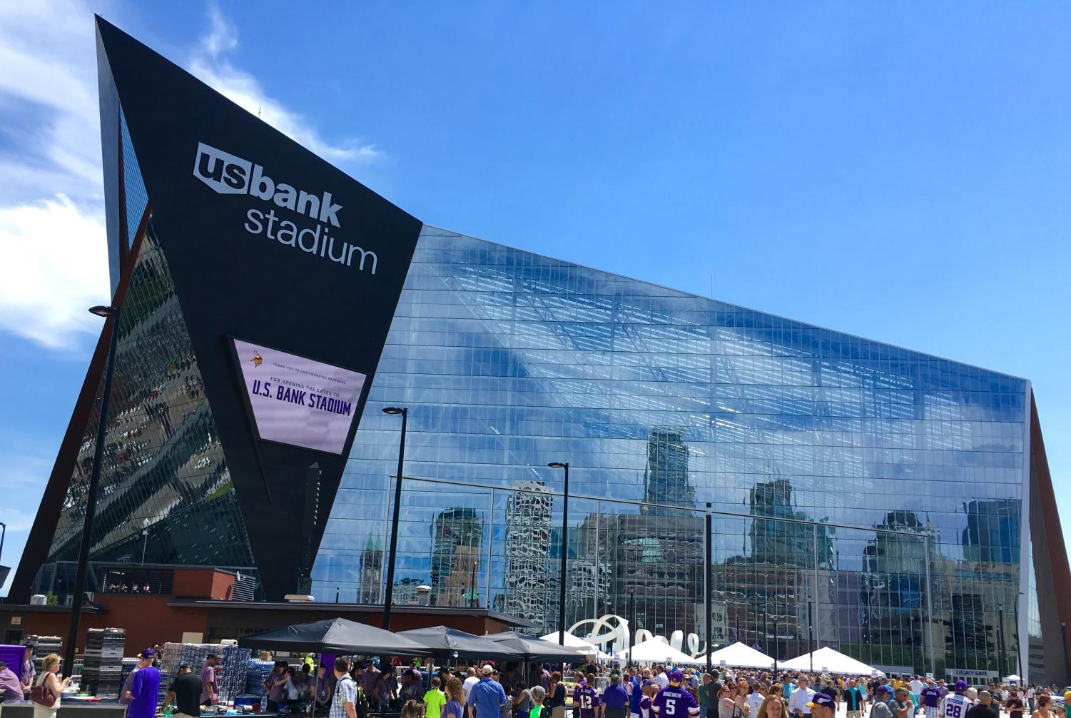 The brand new U.S. Bank Stadium in Minneapolis, Minnesota hosted Super Bowl LII on February 4.