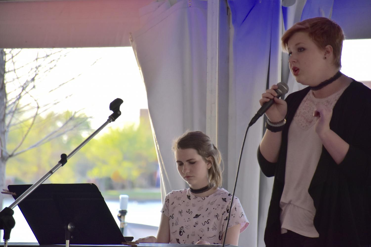 Allie Arnold '18 performed in last year's ISAS acoustic coffee house with Ainsley Dobson '18. Arnold will perform again this year and play