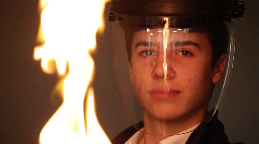 Sam+Jones+demonstrates+his+fire-bending+capabilities.+